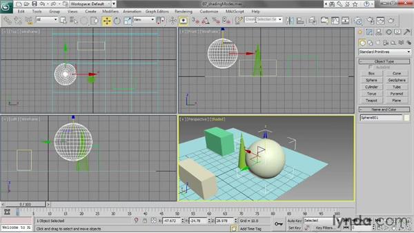 Choosing shading modes: 3ds Max 2013 Essential Training