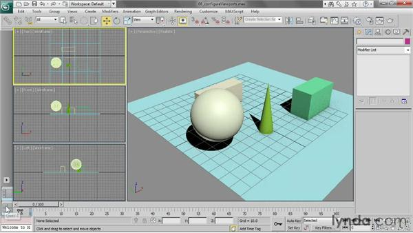 Configuring the viewports: 3ds Max 2013 Essential Training