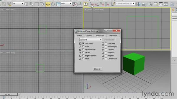 Setting home grid dimensions: 3ds Max 2013 Essential Training