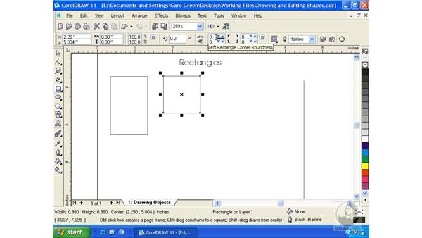 rectangle: Getting Started with CorelDRAW 11