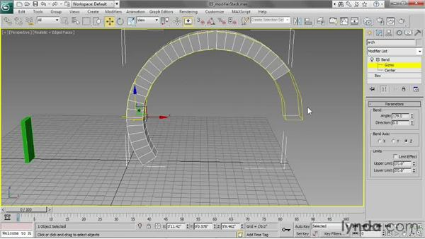 Working with the modifier stack: 3ds Max 2013 Essential Training