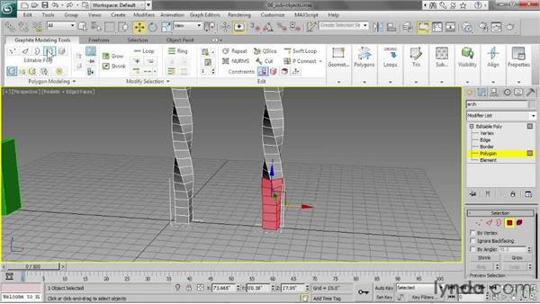 Working with sub-objects: 3ds Max 2013 Essential Training