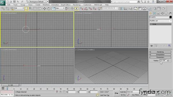 Creating shapes: 3ds Max 2013 Essential Training