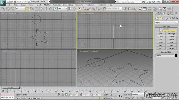 Creating lines: 3ds Max 2013 Essential Training