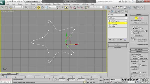 Using different vertex types: 3ds Max 2013 Essential Training