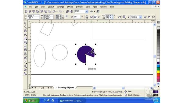 ellipse: Getting Started with CorelDRAW 11