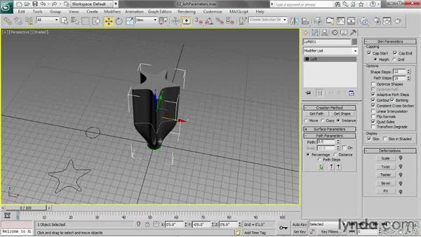 Setting loft parameters: 3ds Max 2013 Essential Training