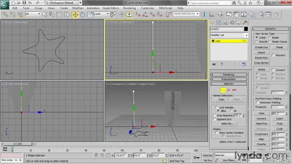 Editing a path: 3ds Max 2013 Essential Training