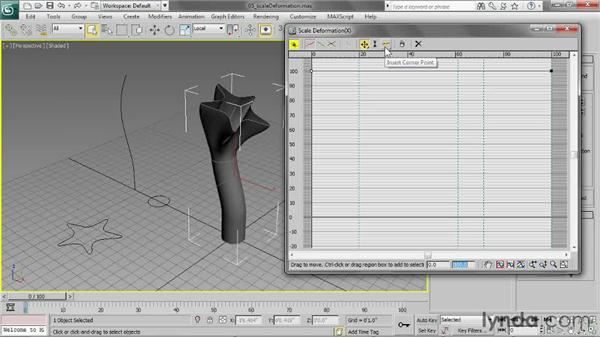 Adding a scale deformation: 3ds Max 2013 Essential Training