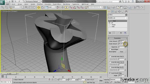 Adding a Shell modifier: 3ds Max 2013 Essential Training