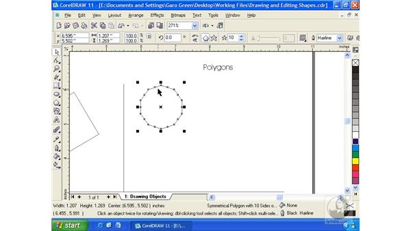 polygon: Getting Started with CorelDRAW 11