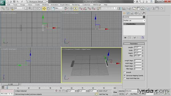 Cloning objects: 3ds Max 2013 Essential Training