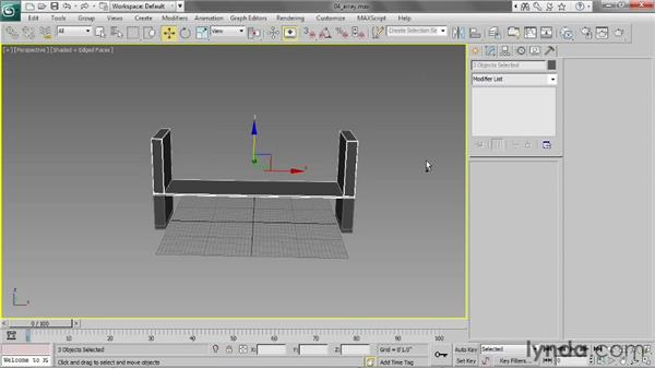 Using the Array tool: 3ds Max 2013 Essential Training