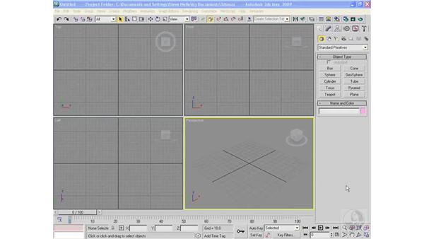 Modeling rectangle primitives: 3ds Max 2013 Essential Training