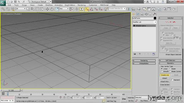 Working with Editable Spline: 3ds Max 2013 Essential Training