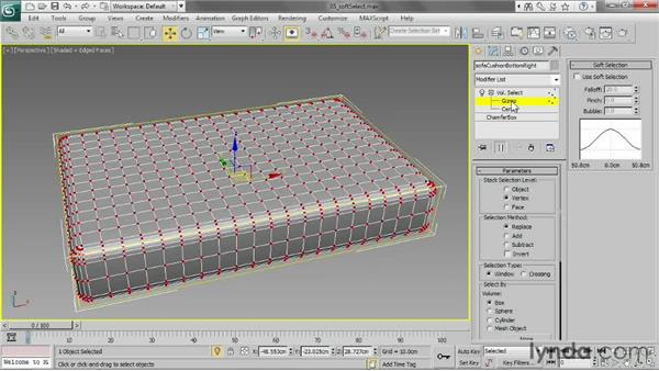 Soft-selecting with Volume Select: 3ds Max 2013 Essential Training