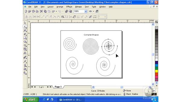 spiral grid: Getting Started with CorelDRAW 11