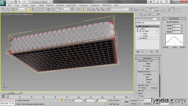 Removing polygons with Delete Mesh: 3ds Max 2013 Essential Training