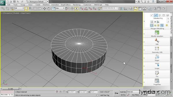 Selecting sub-objects: 3ds Max 2013 Essential Training