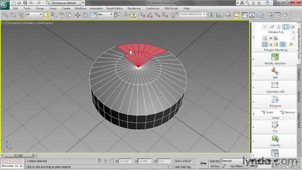 Choosing selection region methods: 3ds Max 2013 Essential Training