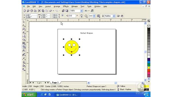 perfect shapes: Getting Started with CorelDRAW 11