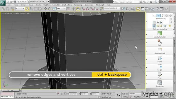 Controlling detail with Remove and Cut: 3ds Max 2013 Essential Training