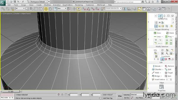 Constraining sub-object transforms: 3ds Max 2013 Essential Training