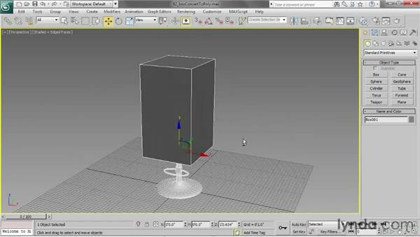 Creating a box and converting it to an editable poly: 3ds Max 2013 Essential Training