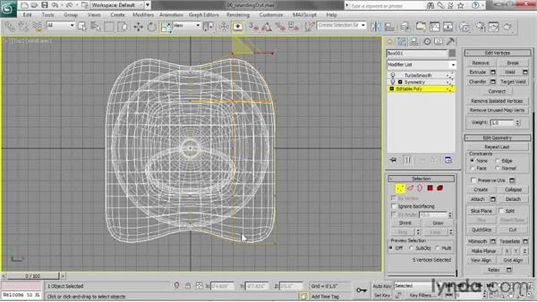 Rounding out square corners: 3ds Max 2013 Essential Training