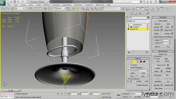 Choosing a transform center: 3ds Max 2013 Essential Training