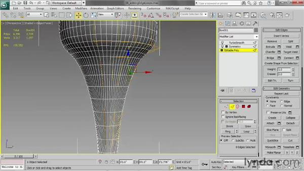 Editing edge loops: 3ds Max 2013 Essential Training