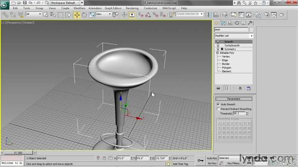 Baking subdivisions: 3ds Max 2013 Essential Training