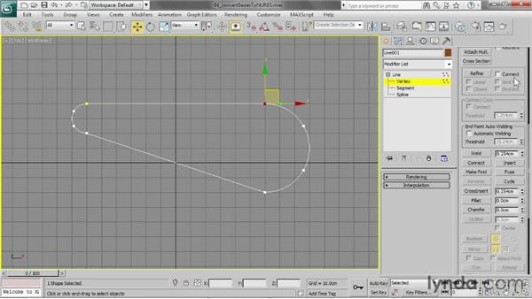 Converting Bézier splines to a NURBS object