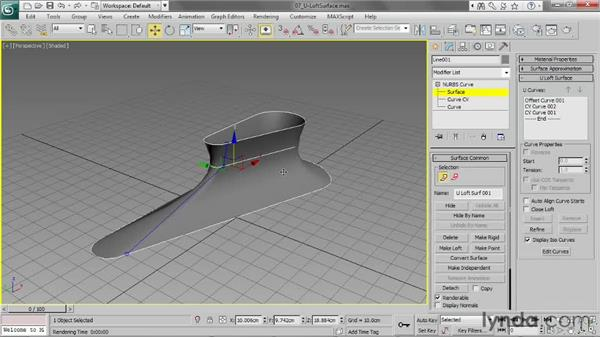 Creating a U loft surface: 3ds Max 2013 Essential Training