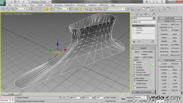 Editing a dependent surface using curves: 3ds Max 2013 Essential Training