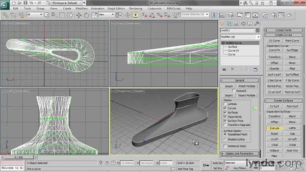 Creating an extrude surface: 3ds Max 2013 Essential Training