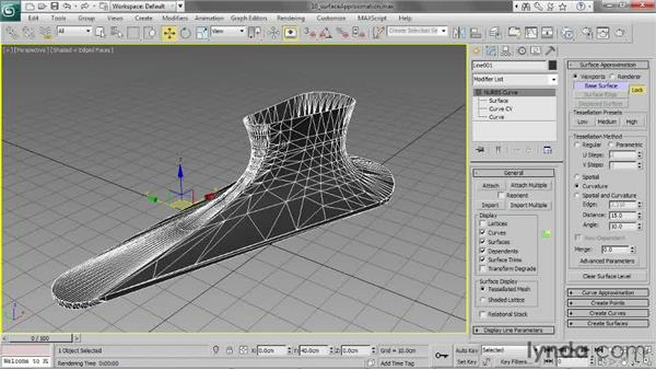Setting Surface Approximation: 3ds Max 2013 Essential Training