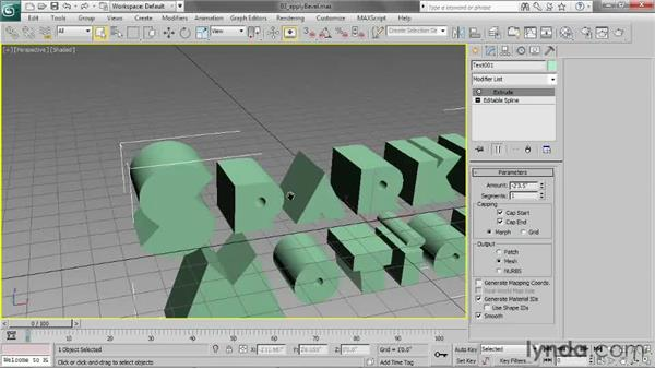 Applying a Bevel modifier: 3ds Max 2013 Essential Training