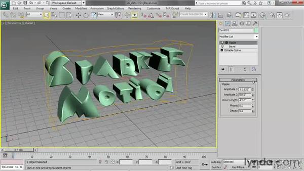Deforming beveled objects: 3ds Max 2013 Essential Training