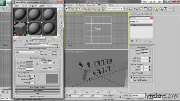Navigating the Compact Material Editor: 3ds Max 2013 Essential Training