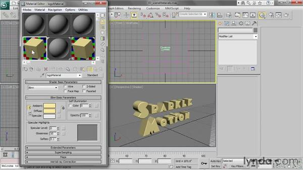 Working with the Sample Slots and Scene Materials: 3ds Max 2013 Essential Training