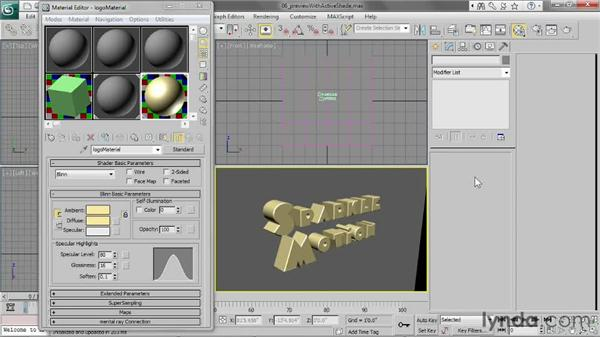 Previewing renders with ActiveShade: 3ds Max 2013 Essential Training