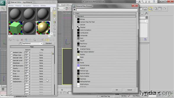 Adjusting opacity and refraction: 3ds Max 2013 Essential Training