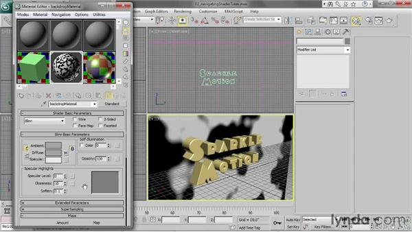 Navigating shader trees: 3ds Max 2013 Essential Training