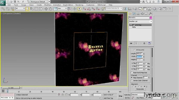 Projecting UVW mapping: 3ds Max 2013 Essential Training