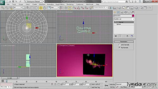 Creating a self-illuminated environment: 3ds Max 2013 Essential Training