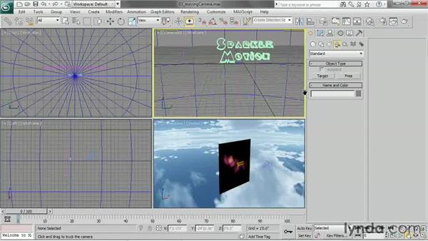 Moving a camera with Truck, Dolly, and Pan: 3ds Max 2013 Essential Training