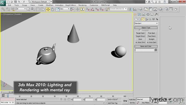 Understanding CG lighting: 3ds Max 2013 Essential Training