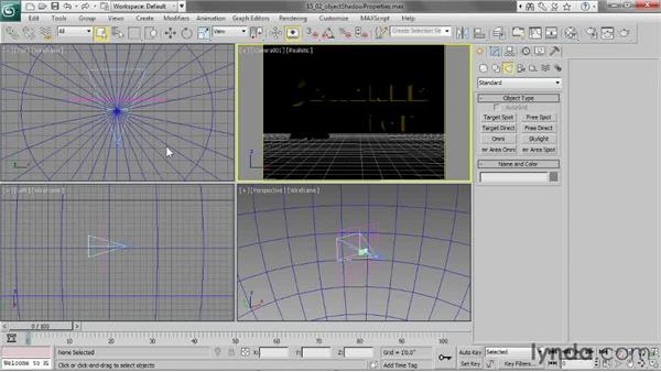 Controlling an object's shadow properties: 3ds Max 2013 Essential Training