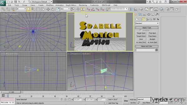 Creating a target spotlight: 3ds Max 2013 Essential Training